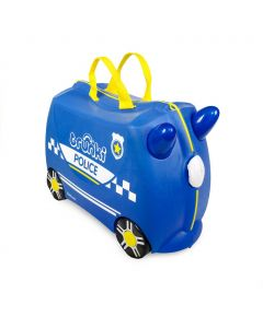 Trunki - Politiewagen Percy - Ride-on en reiskoffer - Blauw