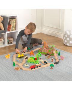 Kidkraft - Houten treinset met opbergbak Dinosaurus