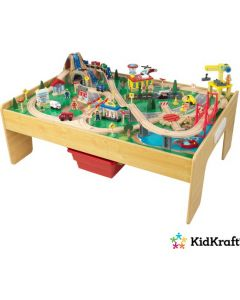 KidKraft - Adventure Town Spoorweg-En-Treinset En Tafel Met EZ Kraft Assembly™