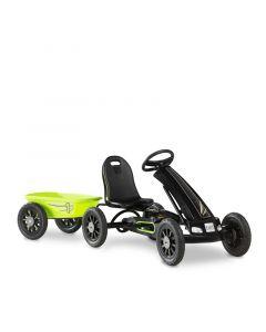 Exit - Cheetah Skelter Go Kart Met Aanhangwagen - Groen / Zwart