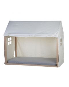 Childhome - Huis Bedframe Cover - 90x200 cm - Wit
