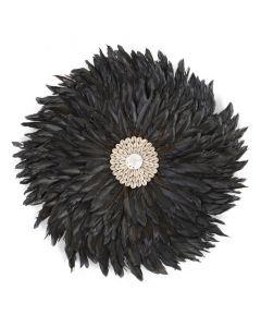 Childhome - Juju Feathers 30 Cm - Anthraciet - Muurdecoratie