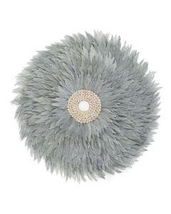 Childhome - Juju Feathers 50 Cm - Licht Grijs - Muurdecoratie