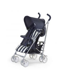 Childhome - Buggy 5 Pos Alu - Blauw/Wit Retro Stripes