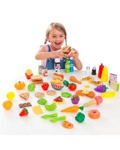 Kidkraft - Kunststof speelgoedeten - Set van 65