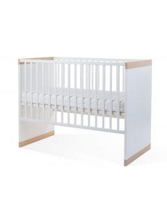 Childhome - Palma White & Oak Babybed 60x120 cm + Zijlatten en Bodem 90x200 cm