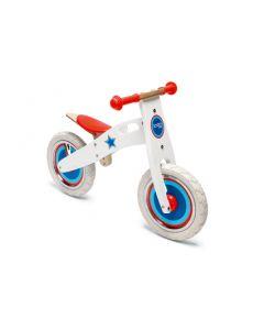 Scratch - Balance Bike L - Wit met ster - Houten loopfiets