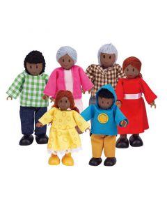 Hape - Poppetjes (Afro-Amerikaans) - Voor poppenhuis
