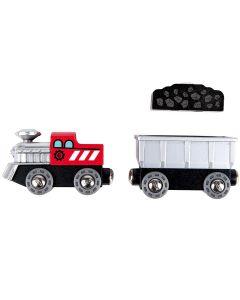 Hape - Lift & Load Mining Play Set - Houten trein
