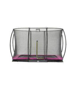Exit - Silhouette Ground Trampoline + Veiligheidsnet Rechthoek - Paars