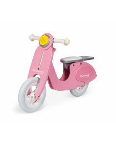 Janod - Roze Scooter Mademoiselle - Houten loopfiets
