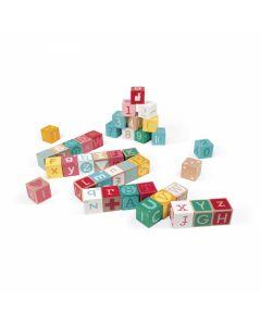 Janod - Kubix - 40 Houten Blokken Letters En Cijfers