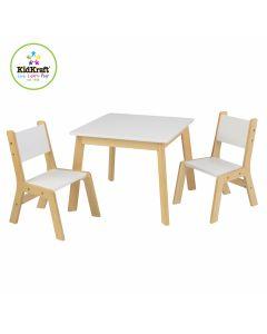 Kidkraft - Moderne set met kindertafel en 2 kinderstoelen