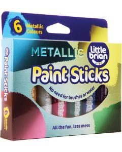 Little Brian - Verfstiften Metallic kleuren - 6st