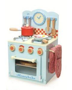 Le Toy Van - Kookfornuis met oven - Blauw - Houten kinderkeuken