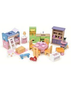 Le Toy Van - Starter Meubelset - Voor poppenhuis