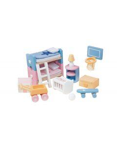 Le Toy Van - Kinderkamer Sugar Plum - Voor poppenhuis