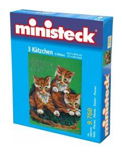 Ministeck - Drie Katten – 9750st - Mozaïek steentjes