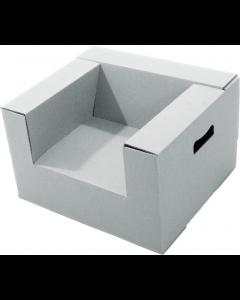 Paperpod - Kartonnen Peuterstoel (2x) Wit