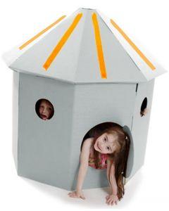 Paperpod - Kartonnen Hut Wit