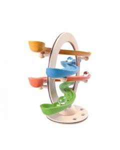 Plan Toys - Curvy Click Clack - Houten knikkerbaan