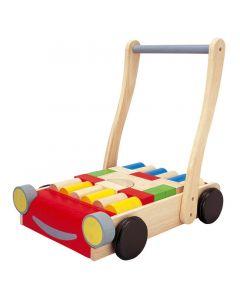 Plan Toys - Babywalker - Houten loopwagen