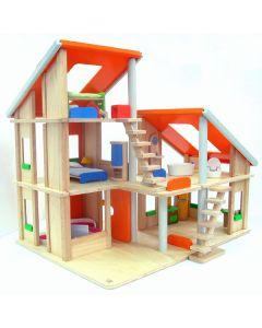 Plan Toys - Chalet Poppenhuis met meubels - Hout