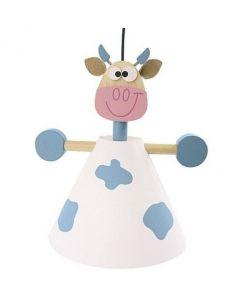 Scratch - Hanglamp Blauwe Koe - Kinderverlichting