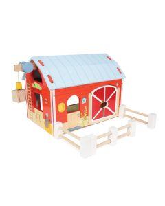 Le Toy Van - Rode hoeve - Houten speelset