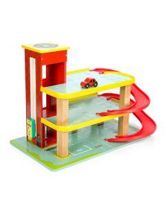 Le Toy Van - Rode Dino garage - Houten speelset