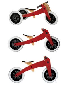 Wishbone Bike - 3-in-1 Rood - Houten loopfiets