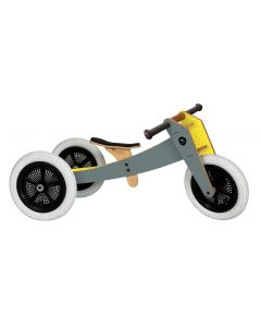 Wishbone Bike - 3-in-1 Grijs - Houten loopfiets