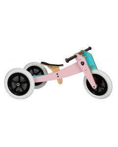 Wishbone Bike - 3-in-1 Roze - Houten loopfiets