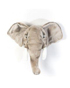 Wild & Soft - Trophy olifant licht George - Dierenkop