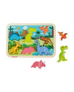 Janod - Chunky Puzzle Dinosaurussen