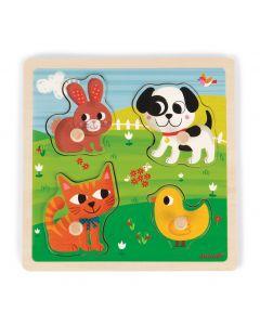 Janod - Touch puzzel Mijn eerste dieren