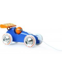 Vilac - Trekfiguur racewagen 'blauw/oranje'