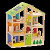 Hape - 4 Seizoenen met meubels - Houten poppenhuis