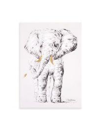 Childhome - Schilderij Olifant - 30x40 cm - Voor De Kinderkamer