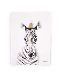 Childhome - Schilderij Zebra - 30x40 cm - Voor De Kinderkamer