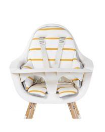Childhome - Evolu Eetstoel Kussen Jersey - Ochre Stripes