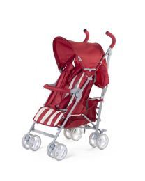 Childhome - Buggy 5 Pos Alu - Rood/Wit Retro Stripes