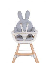 Childhome - Rabbit Universeel Eetstoel Kussen Jersey - Grijs