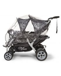 Childhome - Regenhoes Voor Meerlingwagen CWQD