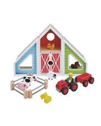 Hape - Barn Play - Houten speelset