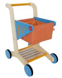 Hape - Shopping Cart - Houten winkelwagen