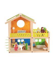 Hape - Happy Villa - Houten poppenhuis