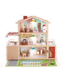 Hape - Doll Family Mansion - Houten poppenhuis