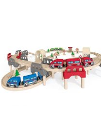 Hape - High & Low Railway Set - Houten trein