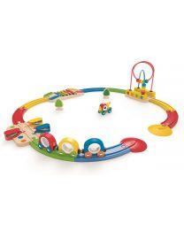 Hape - Sights & Sounds Railway Set - Houten trein